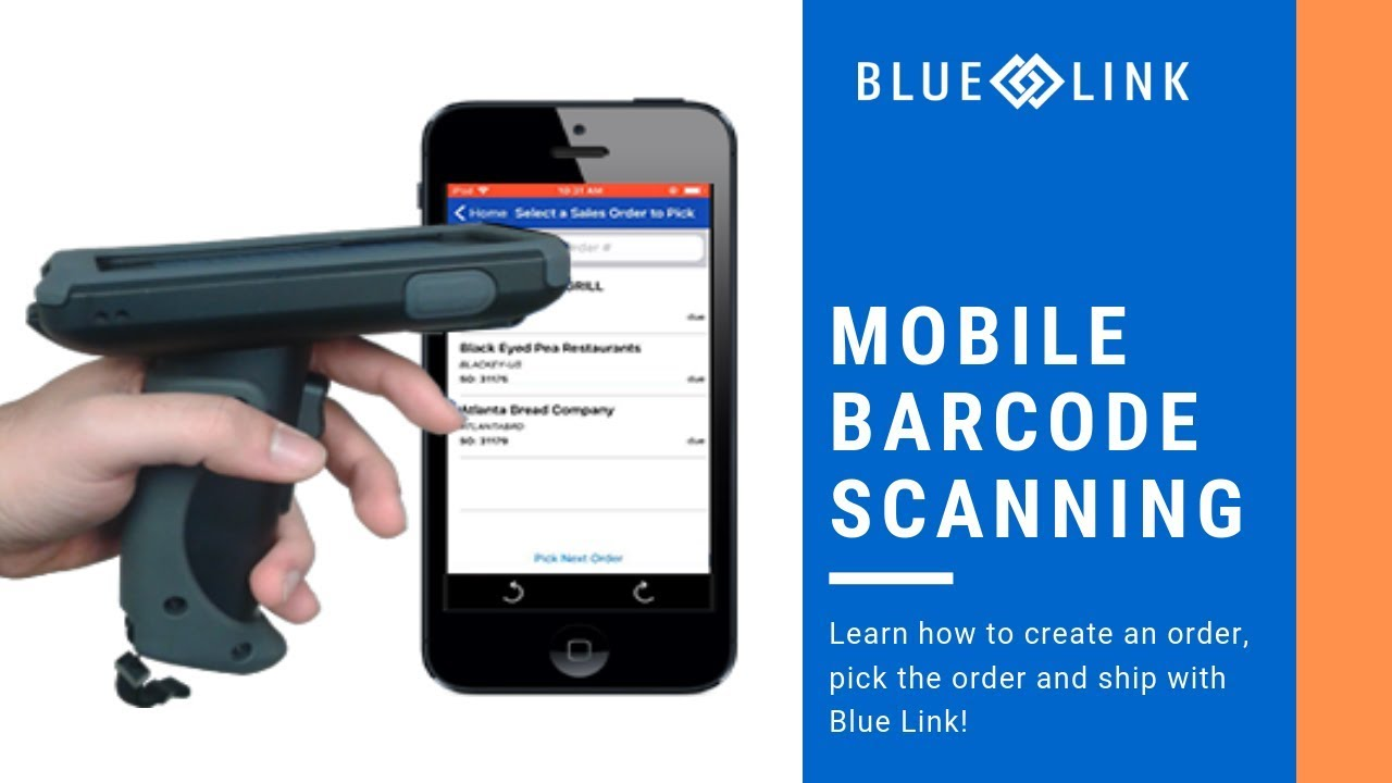 Mobile Barcode Scanner App with Blue Link - Picking Inventory [DEMO]