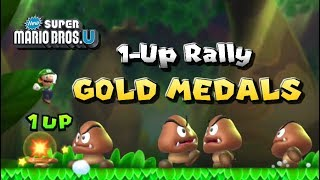 1-Up Rally Challenges - All Gold Medals | New Super Mario Bros. U