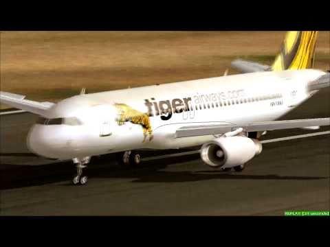 [HD] FS2004 - Tiger Airways Leaves Singapore