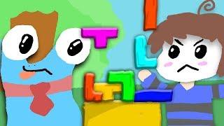 Manu, Zombey, Klaus und maudado spielen Tetris
