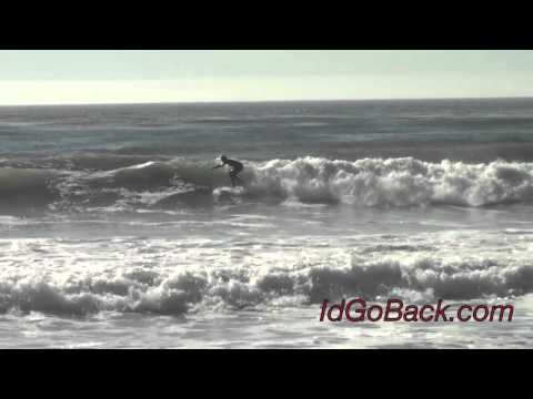 Surfing At Moonstone Beach - Cambria, CA - IdGoBack.com