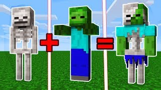 Minecraft - SKELETON + ZOMBIE = ???
