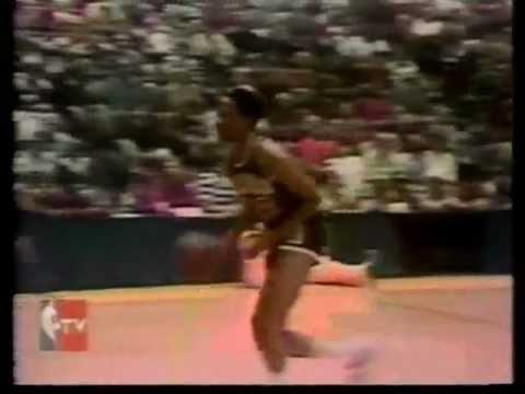 Mickey Johnson vs. Alex English (1977 CBS Slam Dunk Contest)