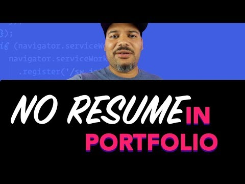Why You Shouldn't Add Your Resume To Your Web Developer Portfolio