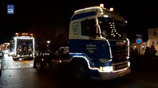 Trucks by night langs Kerst rond um de Kaerke in Oudleusen