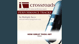Gambar cover How Great Thou Art (Performance Track Low with Background Vocals in G)
