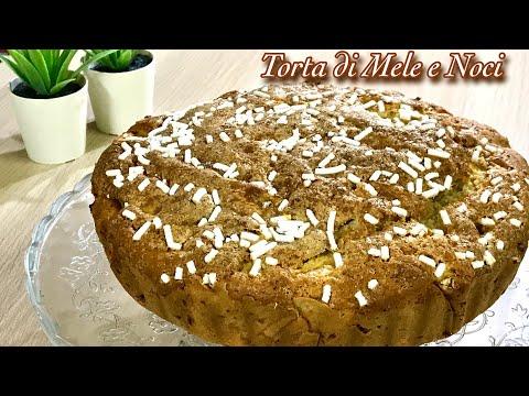 TORTA DI MELE E NOCI IN 5 MINUTI ricetta veloce senza impasto APPLE AND WALNUTS PIE - Tutti a Tavola