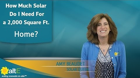 How Much Solar Do I Need For a 2000 SqFt. Home?