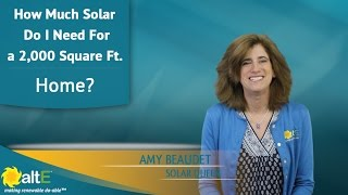 Video How Much Solar Do I Need For a 2000 SqFt. Home? download MP3, 3GP, MP4, WEBM, AVI, FLV Mei 2018
