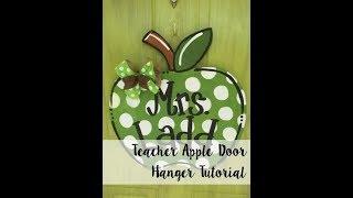 Teacher Apple Door Hanger Painting Tutorial