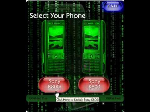 Sony K800i Unlocking Tutorial