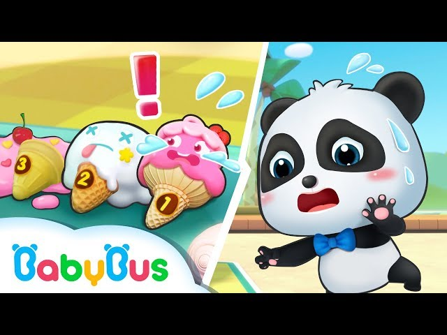 What Happened to Baby Panda's Ice Creams? | Ice Cream Vending Machine | Number Song for Kid| BabyBus