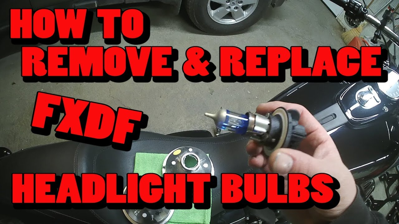 How To Remove & Replace FXDF Fat Bob Headlight Bulbs Harley Fxdf Headlight Wiring Diagram on