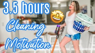 INSANE 3.5 HOURS CLEANING MARATHON | 2 MONTHS OF CLEANING | EXTREME CLEANING MOTIVATION