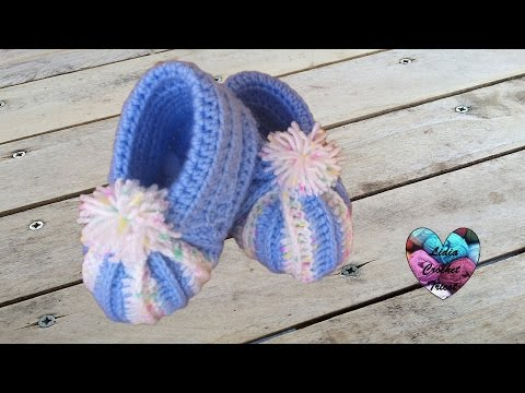 ... citrouille bEbE au crochet / baby booties crochet - YouTube
