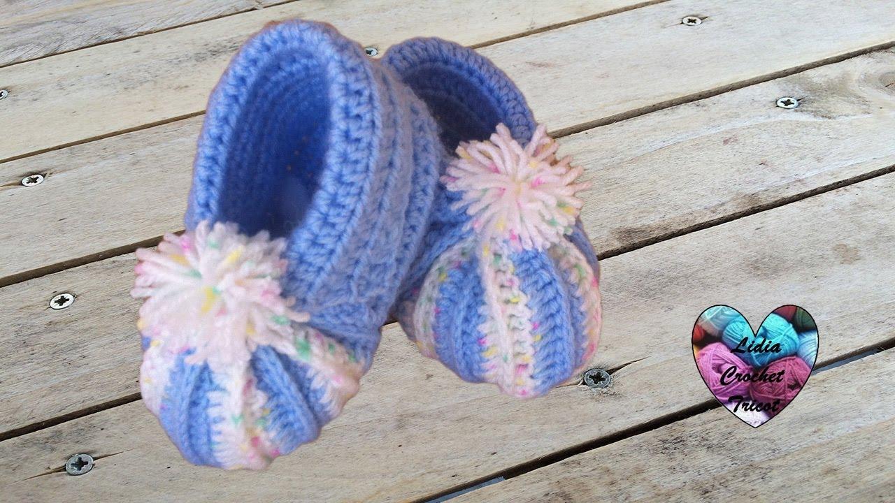 49862deda3cd3 Baby pumpkin shoes crochet (english subtitles)
