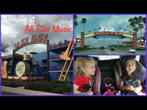 Arriving at Walt Disney World All Star Music Resort  beingmommywithstyle