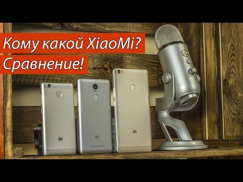 видеообзор сравнения телефонов xiaomi