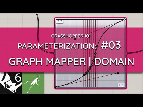 Grasshopper 101: Parameterization | #03 Graph Mapper Domains