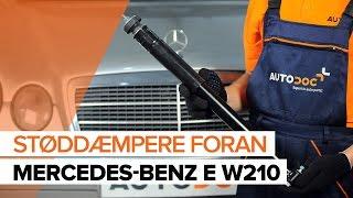 Sådan udskifter du støddæmpere foran på MERCEDES-BENZ E W210 [GUIDE]