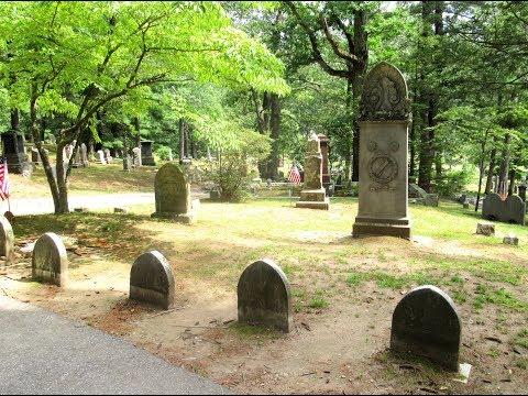 Alcott family graves in Sleepy Hollow Cemetery