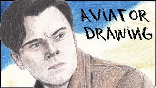 The Aviator | Leonardo DiCaprio | colored pencil portrait
