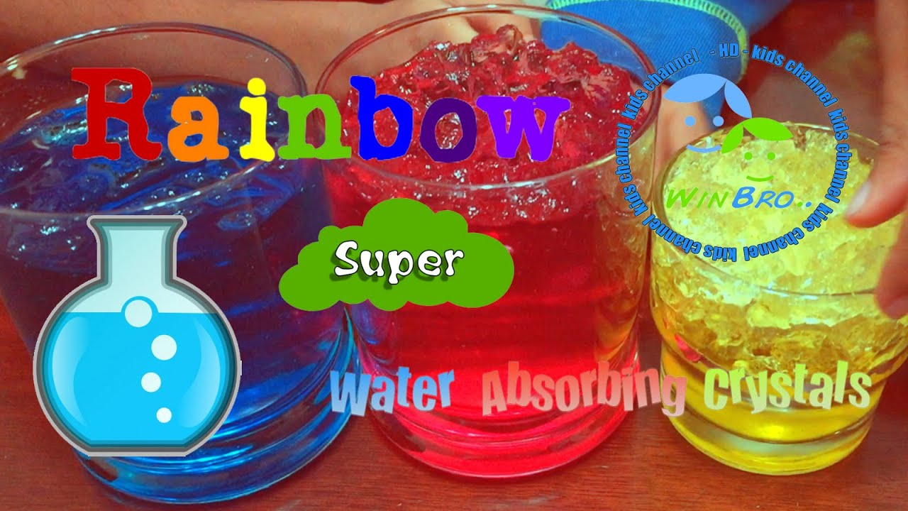 Rainbow Super Water Absorbing Crystals Kids Science Projects Hd Video