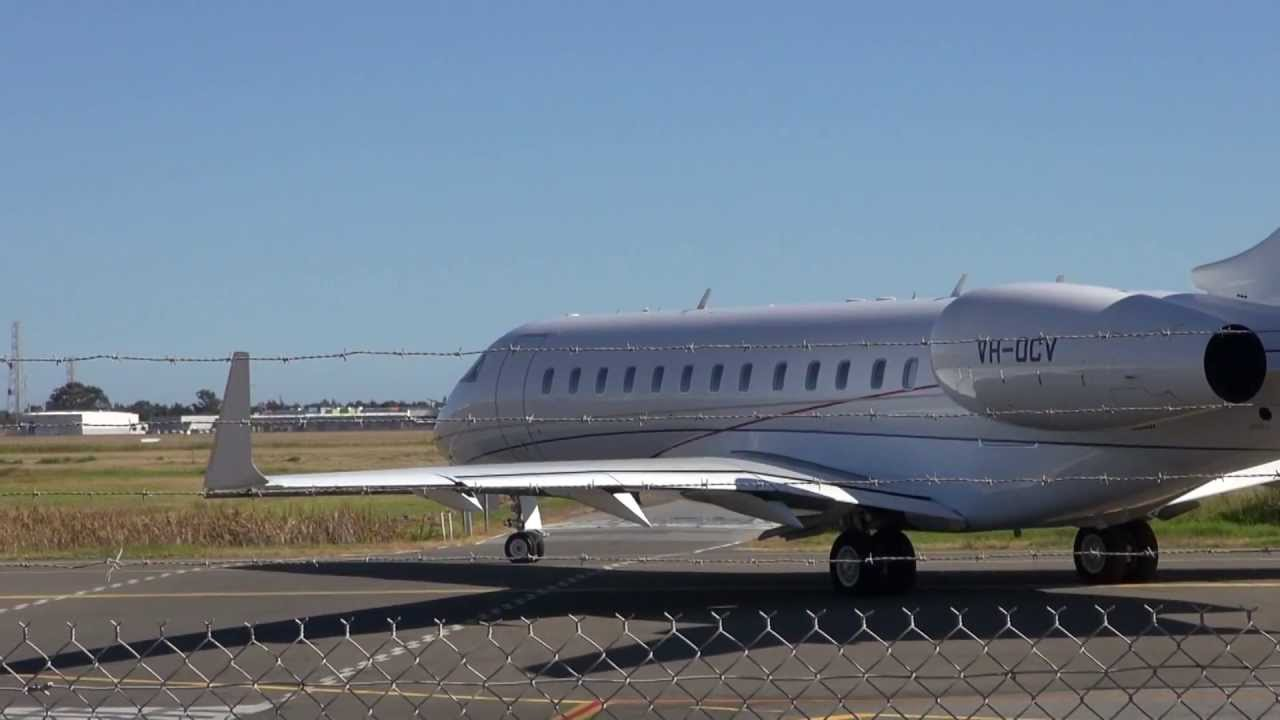 Bombardier Global Express Xrs Start Up And Departure Youtube