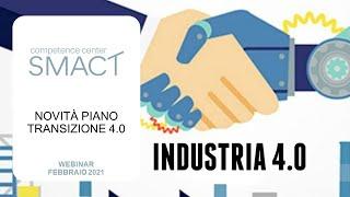 Novità piano transizione 4.0 - Incentivi a sostegno dell'innovazione
