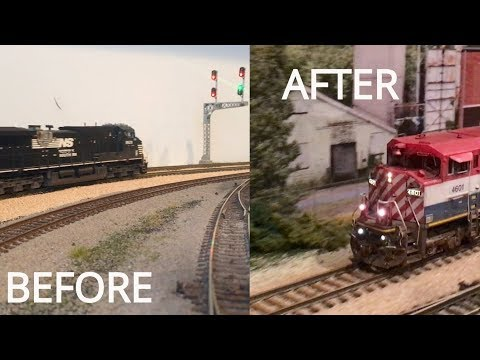 How to Install Realistic Model Railroad Backdrops