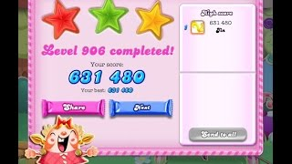 Candy Crush Saga Level 906     ★★★   NO BOOSTER
