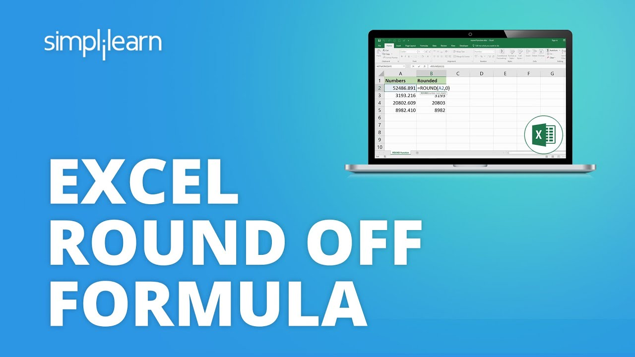 Excel Round Off Formula | How To Round Off Values In Excel | Excel Tutorial