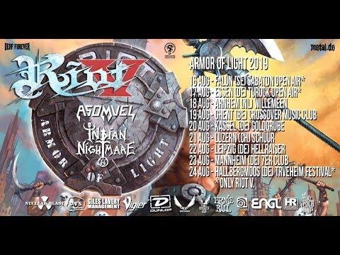 Riot V - Asomvel - Indian Nightmare: Armor of Light Tour (Teaser)