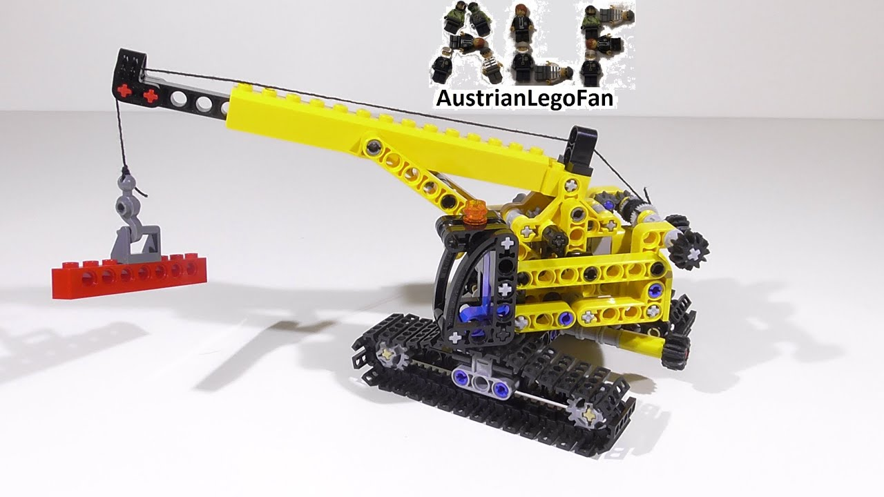 Lego technic 9391 tracked crane raupenkran lego speed build review