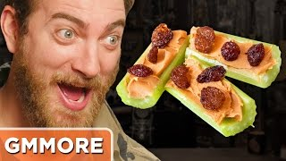 rhett munch madness taste test meaty and cheesy snacks ft harley morenstein