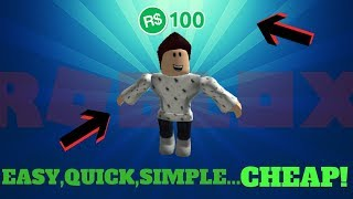 Roblox Easy Avatar For Just R$100! (Boys Only) Girls coming soon Y R U STILL HERE..!?!?