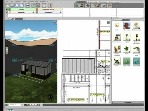 3d home design by livecad tutorials 19 the veranda youtube. Black Bedroom Furniture Sets. Home Design Ideas