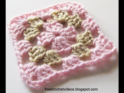 Classic Granny Square In Two Colors Youtube