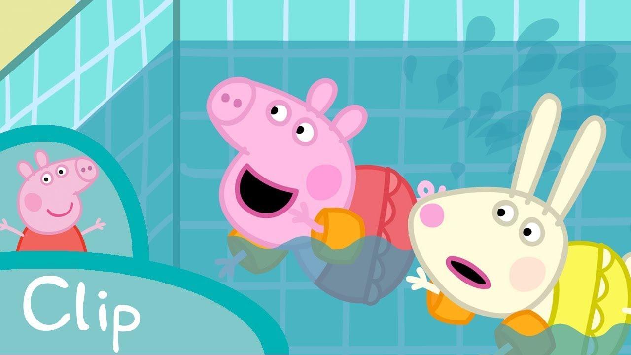 Peppa Pig Francais Tous A La Piscine Youtube