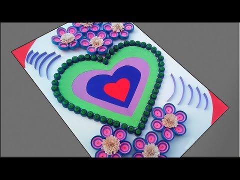 Paper Quilling Art S Quill Paper Beautiful Heart Design