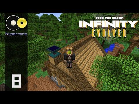 Minecraft Hypermine FTB: Infinity Evolved  | Resonant Solar Panel | E08