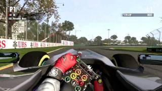 F1 2011 PC Gameplay Final Version All Aids Off Melbourne Mercedes GP Schumacher