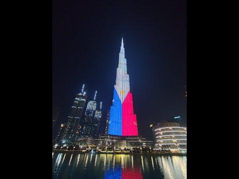 Burj Khalifa Dubai Mall  ( Gala mode ) Philippine Independence Day. 2020 Lighting the Flag.