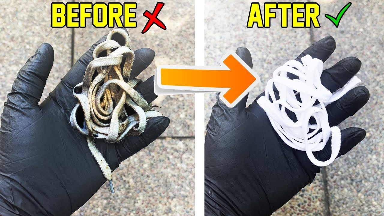 How To Make Shoe Laces White Get Rid Of Stains Tutorial Easy