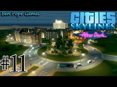 Cities: Skylines - (After Dark) - #11 Two Lane Highway Roundabouts
