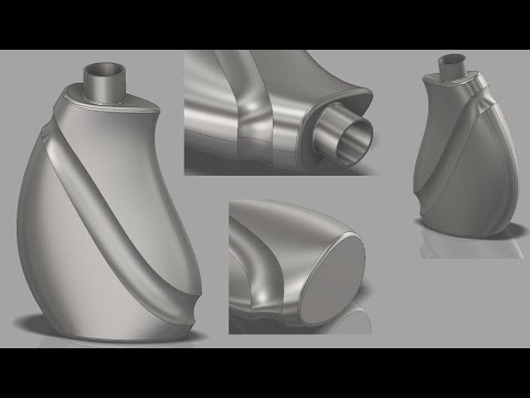 How To Create Bottle With Inventor 2018