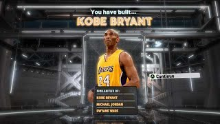 NBA2K20 KOBE BRYANT BUILD - 55 BADGE UPGRADES - DEMIGOD SHOOTING GUARD BUILD