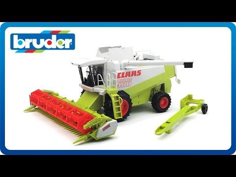 bruder toys claas lexion combine harvester 02120 youtube. Black Bedroom Furniture Sets. Home Design Ideas