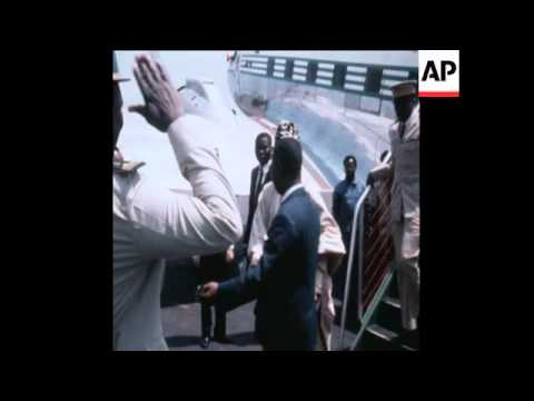 SYND 29-1-70 HEADS OF STATE ARRIVE IN CAMEROON FOR OCAM SUMMIT