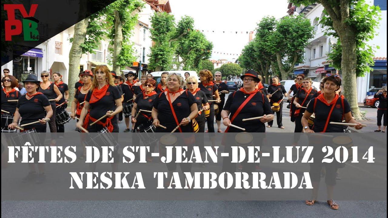 F tes de st jean de luz 2014 neska tamborrada youtube - Euskal linge st jean de luz ...